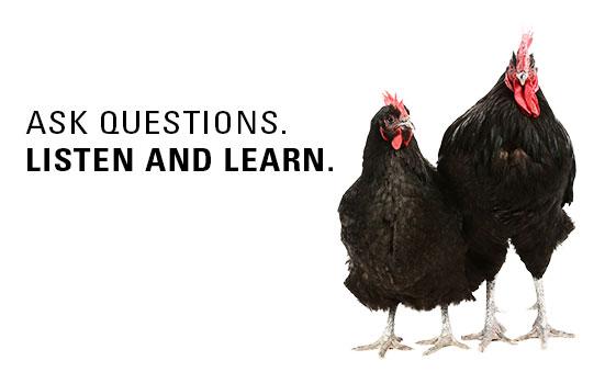 Ask Questions. Listen & Learn.