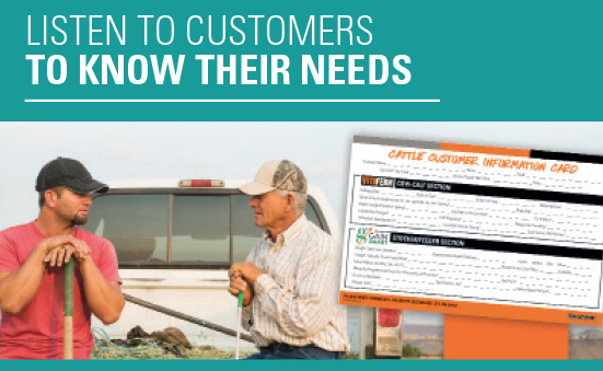 Listen to Customers to Know Their Needs