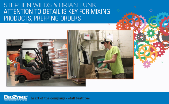 Stephen Wilds And Brian Funk: Attention To Detail Is Key For Mixing Products, Prepping Orders