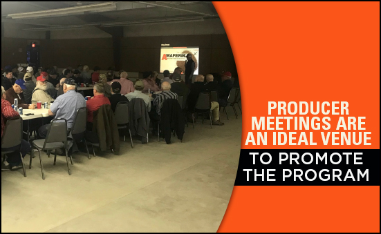 Producer Meetings are an Ideal Venue to Promote the Program