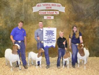 National Champion Percentage Boar Goat Herd Tyler Peterson Ronsal Family farm