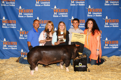 Devin McBryde Grand Champion Berk Barrow Houston