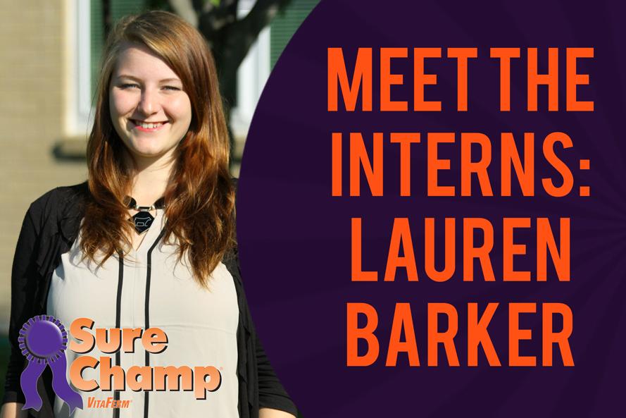Sure Champ Interns: Lauren Barker
