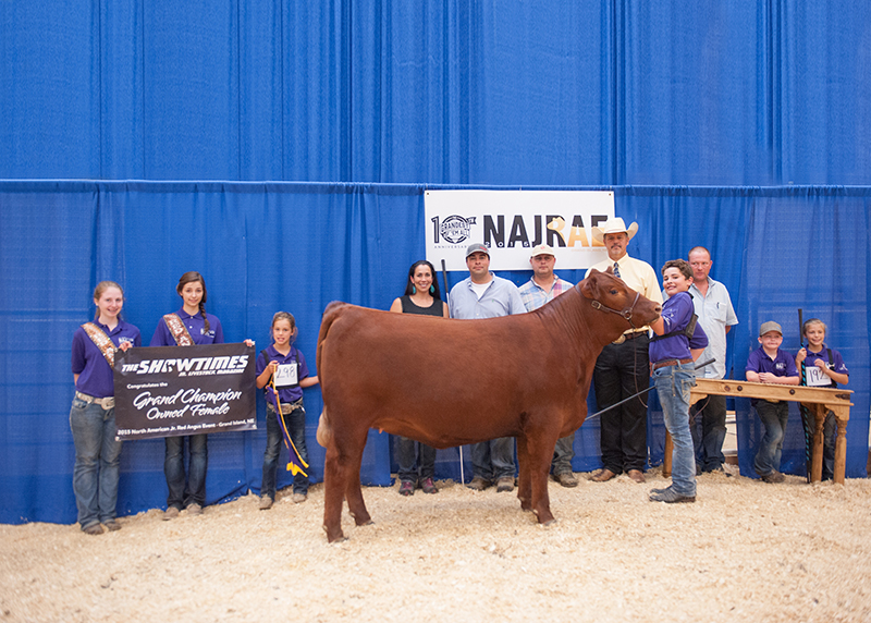 Andrew Meier TN Grand CHampion Heifer North American Junior Red Angus Event