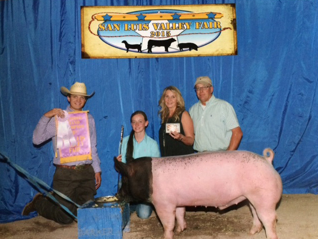 Sheridan Peterson Reserve Champion 2015 San Luis Valley Fair Monte Vista Co-op