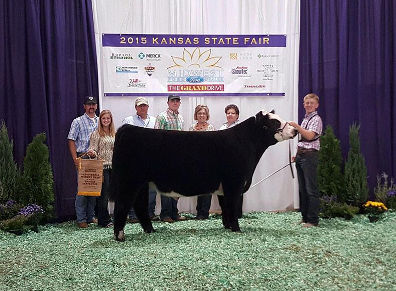 Ben Jensen KS Third Overall Steer KS State Fair