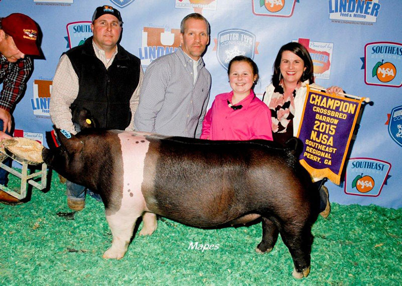 Grand Champion Crossbred Barrow NJSA Southeast Regional Savannah Page GA