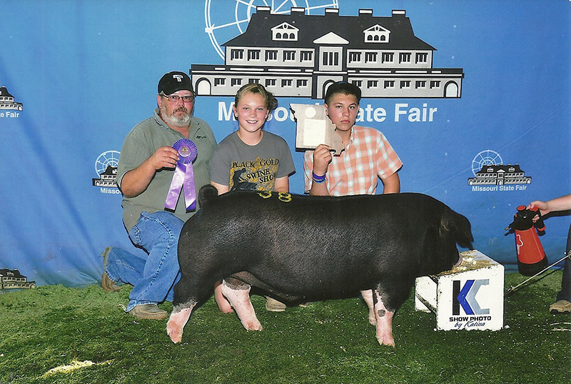 Cole Luttrell_Champ Poland China Barrow_ MO State Fair