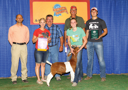 Cora Svoboda Nebraska Goat Sure Champ