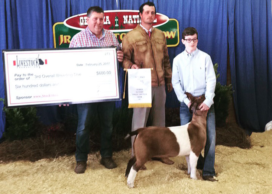 3rd Overall Commercial Doe, 2017 Georgia National Junior Livestock Show, Worth Aycock
