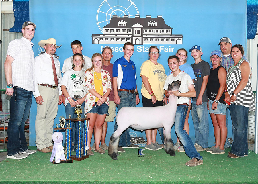 18 Missouri State Fair, Reserve Grand Champion Market Lamb, Shown by Payton Dahmer