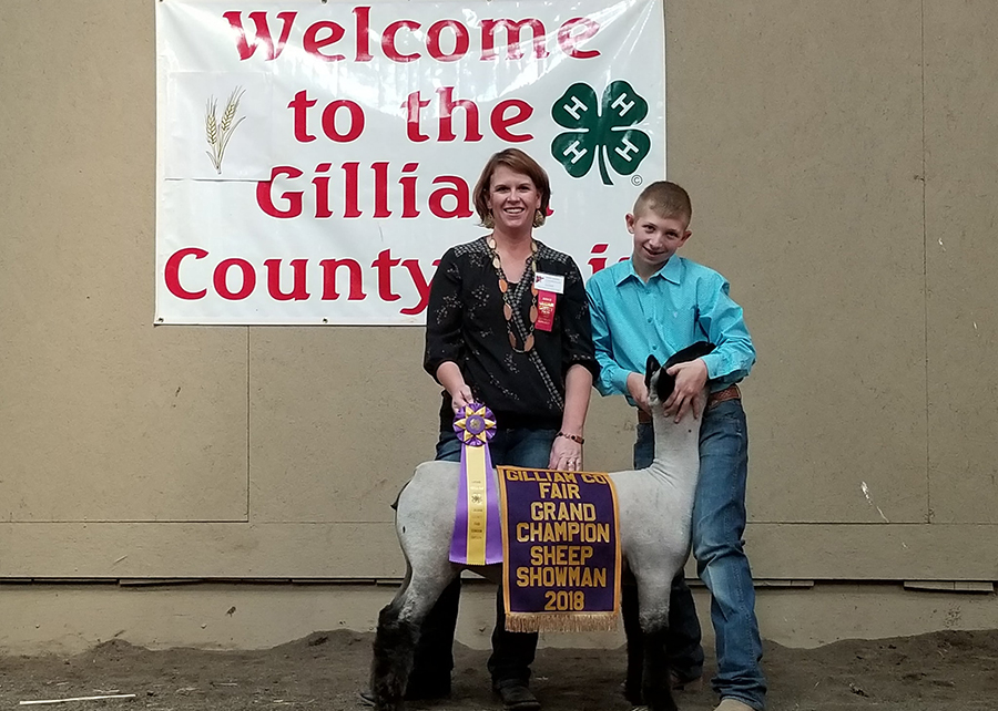 18 Gilliam County Fair, Reserve Grand Champion Market Lamb, Shown by Wyatt Wilson Champ