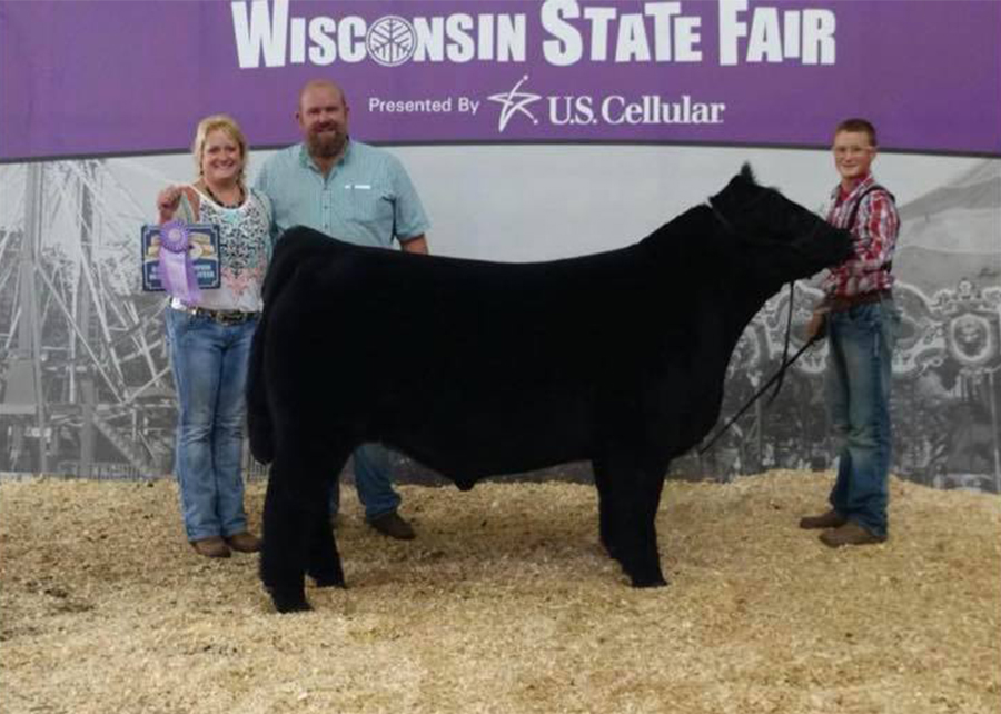 18 Wisconsin State Fair, Reserve CHI breed steer, Shown by Jaden Papenfus Champ