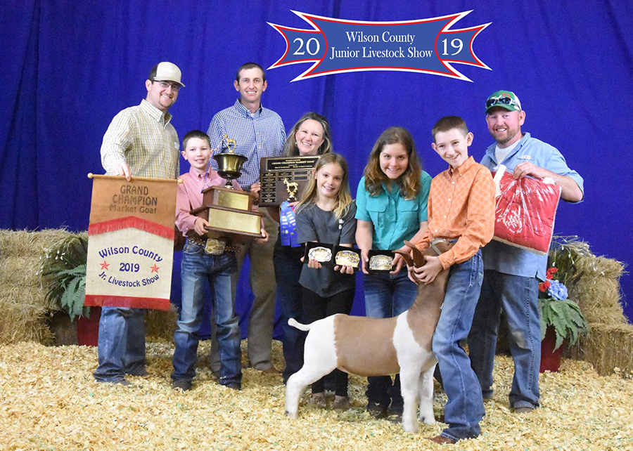 19 Wilson County Junior Livestock Show, Grand Champion, shown by Dustin BowlesChamp