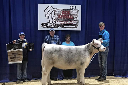 19 Dixie National Junior Roundup, Reserve Champion Shorthorn Female, Shown by Colton Lott Test