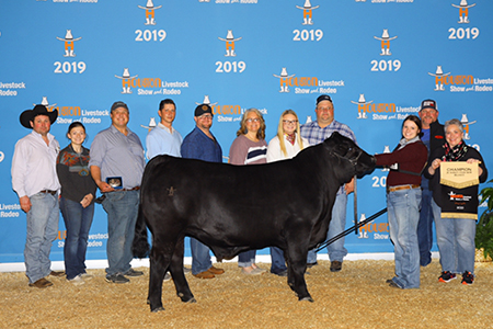 19 Houston Livestock Show & Rodeo, Breed Grand Champion Brangus Steer, Shown by Whitney Mahan Test