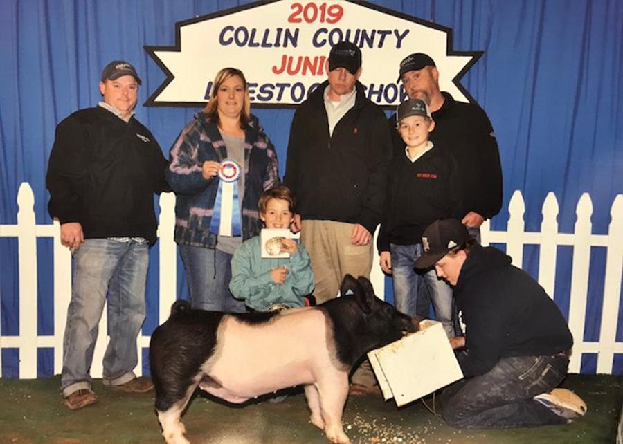 19 Collin County Livestock Show, Champion Cross Market Swine, Shown by Zane Thompson Champ