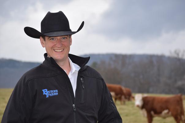 David Burns, Burns Farms Herefords