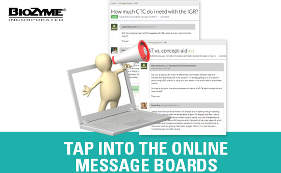 Tap Into the Online Messaging Board