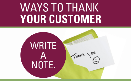 10 Ways to Thank Your Customer