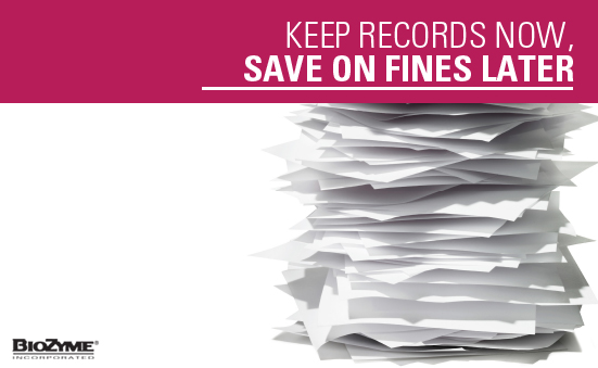Keep Records Now, Save on Fines Later