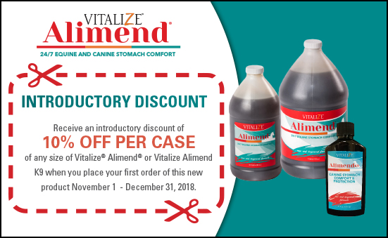 REMINDER: 10% Introductory Discount on Vitalize Alimend