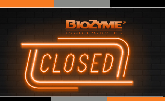BioZyme Labor Day Hours