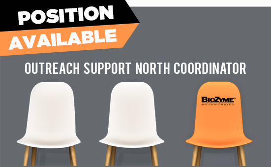 Position Available: Outreach Support North Coordinator