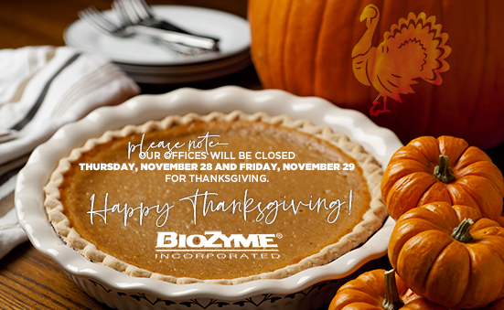 BioZyme Thanksgiving Hours