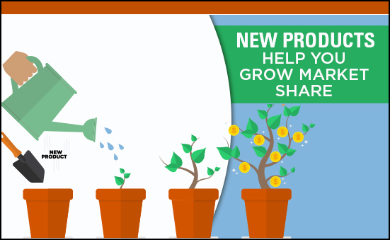 New Products Help You Grow Market Shares