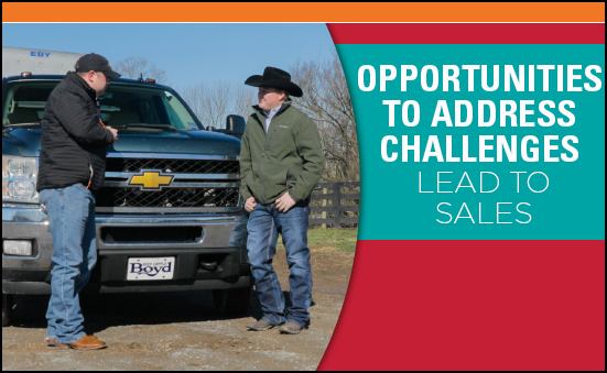Opportunities to Address Challenges Lead to Sales