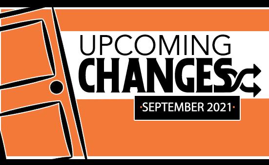 September 2021 Changes