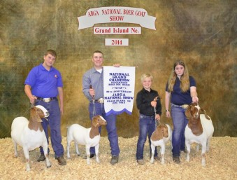 National Champion Percentage Boar Goat Herd Tyler Peterson Ronsal Family farm