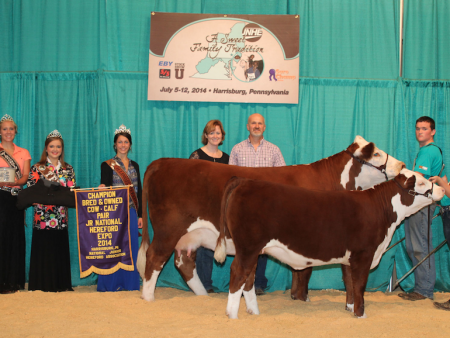 Grand Champion B&O Cow Calf Pair_Riley Jones and Family