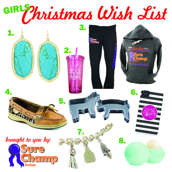 Stock show christmas wish list for girls
