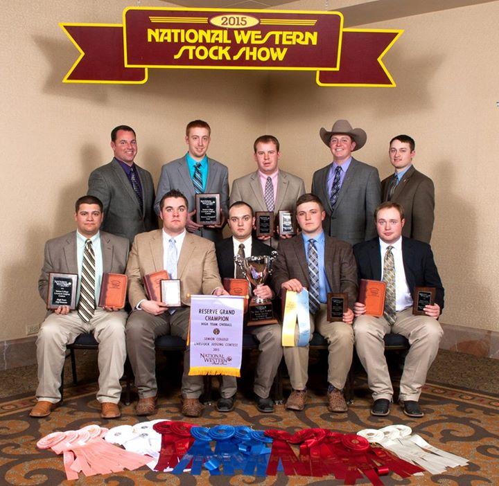NWSS Reserve Champion Livestock Judging Team