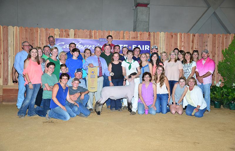 Grand Champion Market Lamb California State Fair Maggie Madden CA