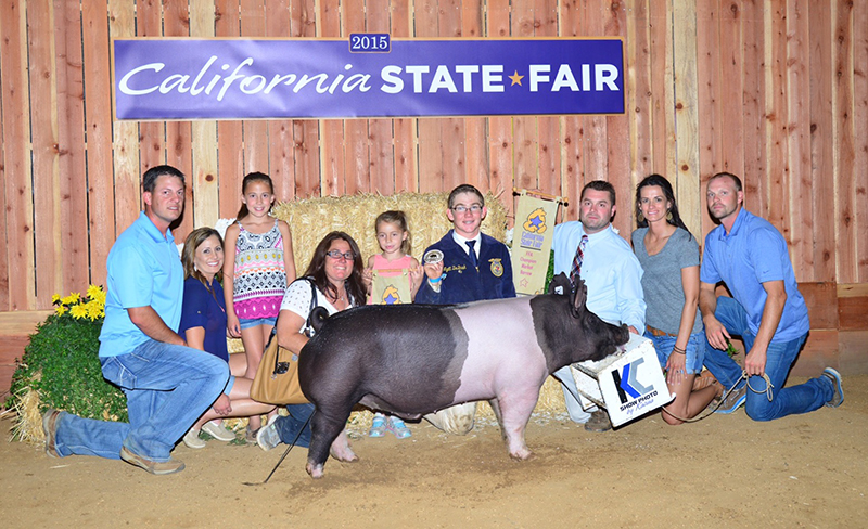 Wyatt DeBusk Grand Champion Barrow California State Fair