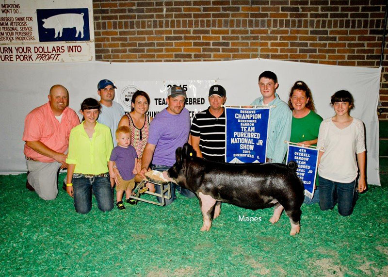 4th Overall Barrow & Reserve Berkshire 2015 Team Purebred Jr Show Ty Jester