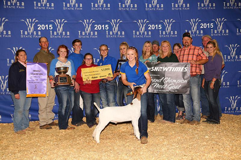 Johnna Stottlemyre Champion Market Goat 2015 Oklahoma State Fair REI