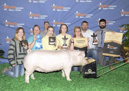 Reserve Supreme Breeding Gilt Houston Livestock Show Morgan Miller