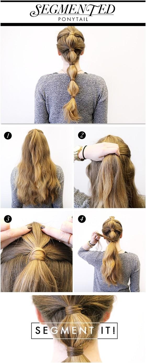 segmented ponytail