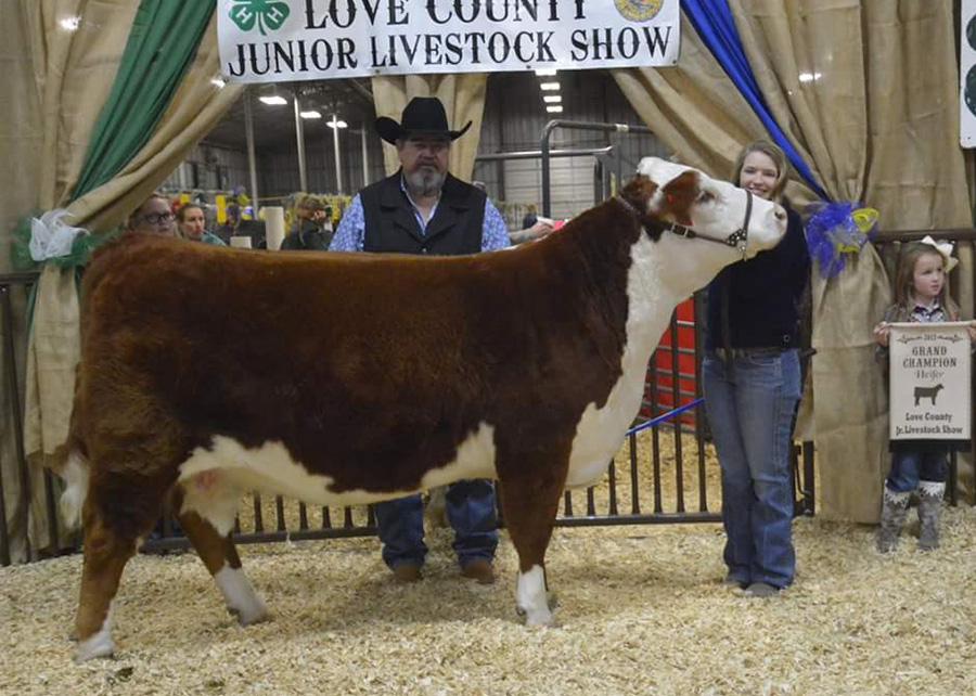 Grand Champion Heifer2017 Love County Jr Livestock ShowShown By: Abigail Nunn