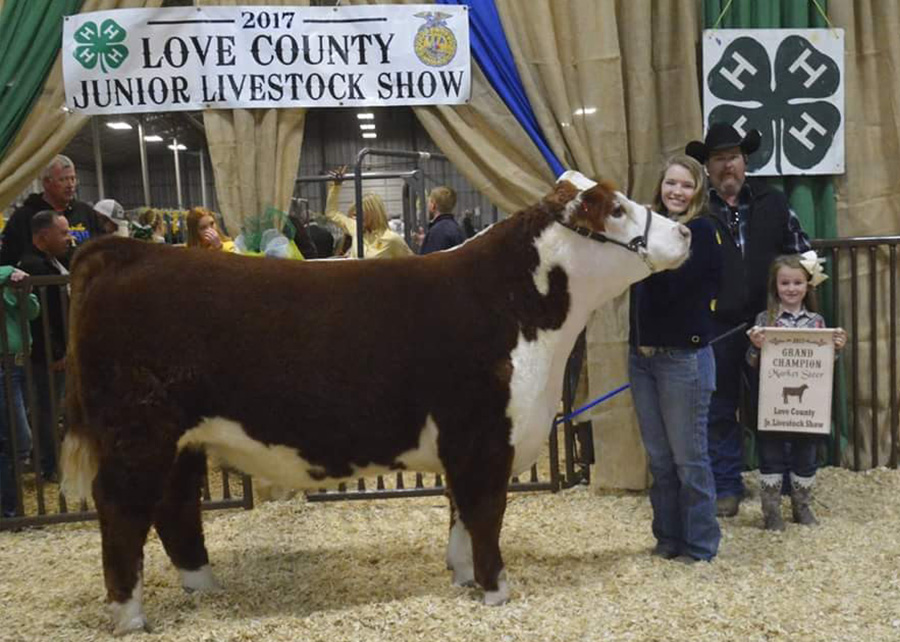 Grand Champion Steer2017 Love County Jr Livestock ShowAbigail Nunn