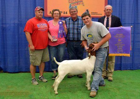 FFA Grand Champion Mkt Goat2017 Nebraska State FairShown by Sheldon Johnsen