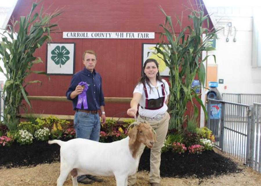 18 Carroll County 4-H & FFA Fair, Champion Production Doe, Shown by Hannah Haines Champ