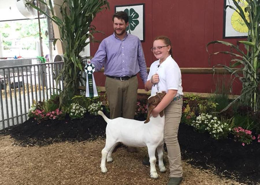 18 Carroll County Fair, Grand Champion Rate of Gain,Shown by Hannah Staub Champ