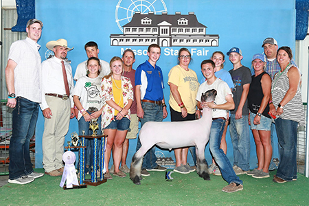 18 Missouri State Fair, Reserve Grand Champion Market Lamb, Shown by Payton Dahmer Test