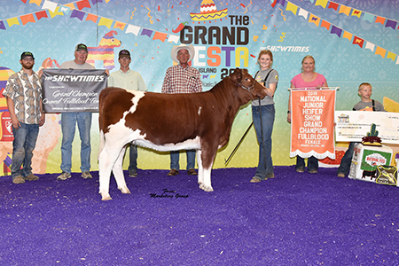 18 National Junior Heifer Show, Grand Champion Fullblood Female, Shown by Mikala Denney Test