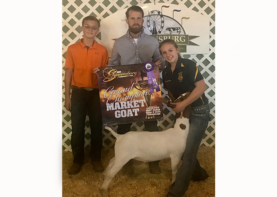 18 Shippensburg Community Fair, Grand Champion, Shown by Mckenzie Myers Champ